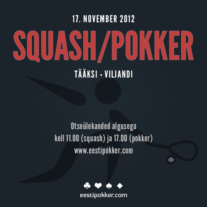 Laupäeval toimub Viljandimaal squash-pokkeri turniir 101