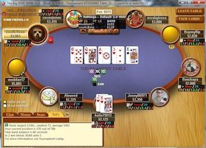 Stone flopping a royal flush.