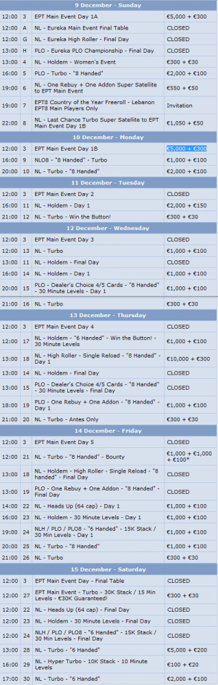 Najciekawsze turnieje w ostatnich tygodniach 2012 roku 104