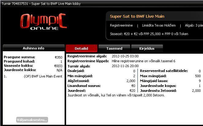 Pokernews Baltic Winter Festival miniliiga võitis Andrus Rikk 101