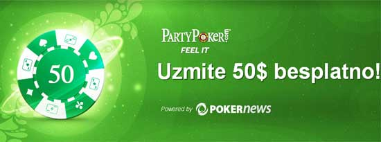 Besplatnih  za Nove PartyPoker & Poker770 Korisnike 101