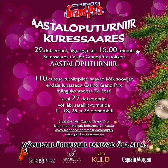 Tulemas Casino Grand Prix aastalõputurniirid Kuressaares ja Haapsalus 101