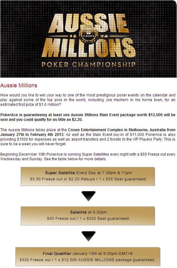 000 Freeoll hos PokerAce fjerdejuledag - Ingen innskudd 101