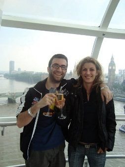 Кръгче на London Eye с Михаела по време на World Series of Poker Europe 2009