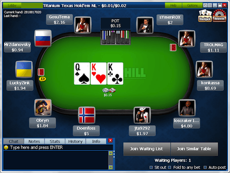 000 Double Up Sit and Go Madness kampanje hos William Hill 101