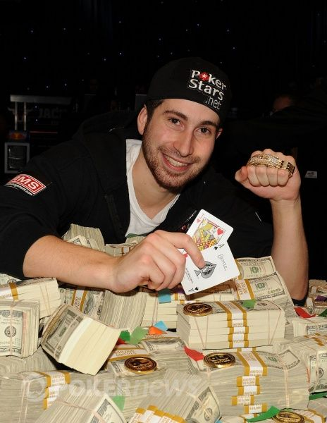 Jonathan Duhamel after winning the 2010 WSOP Main Event