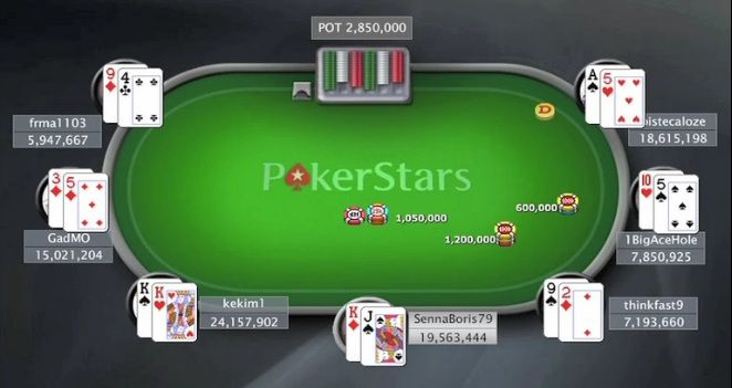 Ο SennaBoris79 στο TCOOP Main Event final table (c/o PokerStars.tv)