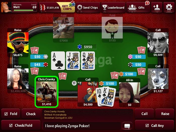 """Zynga poker """"juega una partida con los troyanos"""" 101"""