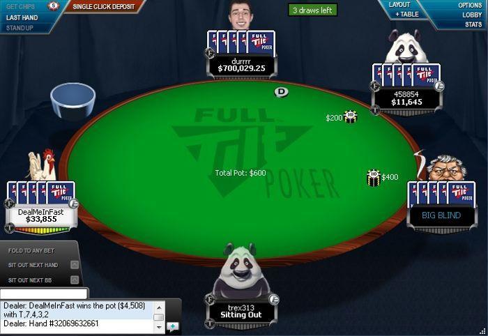 Dwan hraje $200/400 no-limit 2-7
