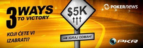 """Takmiči Se za Deo od ,000 u PKR """"3 Ways to Victory"""" Promociji 101"""