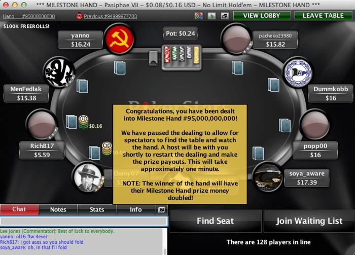 PokerStars har delt ut 95 milliarder spilte pokerhender 101