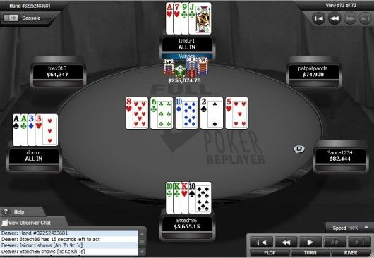 High-Stakes Action hos Full Tilt Poker  - Dwan taper stort 101