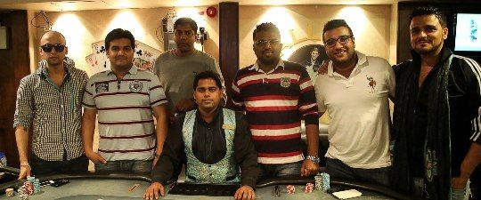 Shravan Chhabria, Amit Jain, Uday Patil, Husain Lakda, Manjeet Asrani and Kanishka Kapoor at the final table of IPC 25k Big Game