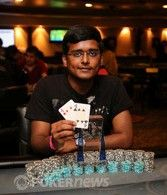 Ankur Agarwal, winner of IPC 5k Deep Stack Turbo