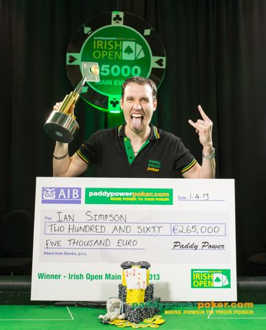 Ian Simpson - 2013 Irish Open champion