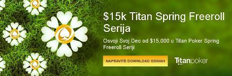 Proleće sa Akcijom uz ,000 Titan Spring Freeroll Seriju 101
