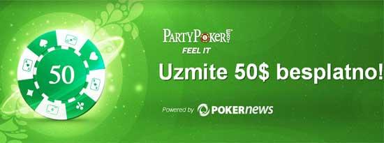 PartyPoker Nedeljnik: Preko Freerolla Osvojite Put za  2013 WSOP na PartyPokeru 105