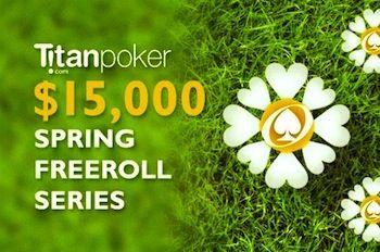 Spill om  000 ved vår  000 Titan Spring Freeroll Serie +  000 RakeChase 101