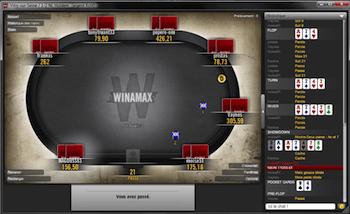 Изглед от маса в Winamax Poker