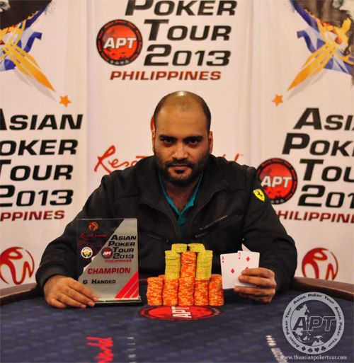 Jasven Saigal wins $270 6-Handed Event (Image courtesy: Asian Poker Tour)