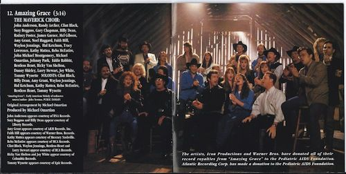 The Maverick Choir: John Anderson, Randy Archer, Clint Black, Suzy Bogguss, Gary Chapman, Billy Dean, Radney Foster, James Garner, Mel Gibson, Amy Grant, Noel Haggard, Faith Hill, Waylon Jennings, Hal Ketchum, Tracy Lawrence, Kathy Mattea, Reba McEntire, John Michael Montgomery, Michael Omartian, Johnny Park, Eddie Rabbitt, Restless Heart, Ricky Van Shelton, Danny Shirley, Larry Stewart, Joy White & Tammy Wynette.