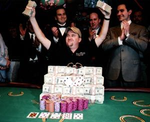 Moneymaker after his win in 2003 (Picture c/o casinogaming.com)