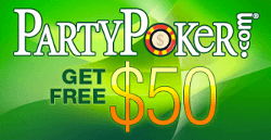 PartyPoker savaitė. 10,000 dolerių nemokami kasdieniai turnyrai grįžta, WSOP atrankiniai... 103