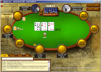 The PokerStars client.