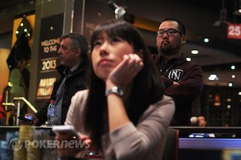 """Hong Kong"" Kenny Wong sweats Jay Tan on her deep run in the 2013 Aussie Millions."