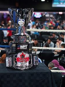 The WPT Champions Cup and the Playground Poker Club Champions Belt.