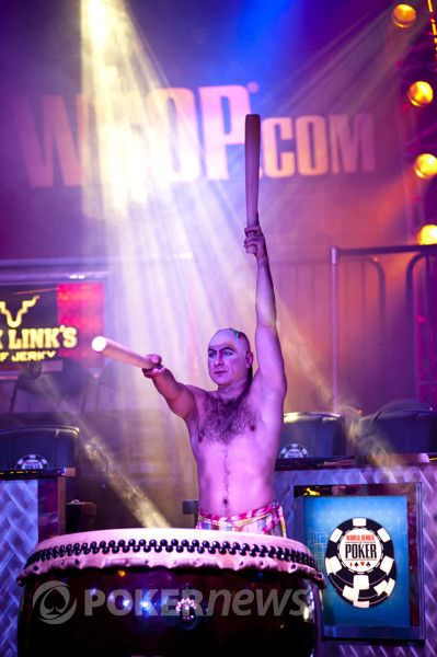 Cirque du Soleil drummers performed before last summer's Big One for One Drop at the WSOP