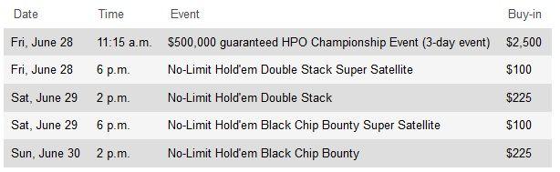 Hollywood Poker Open 0,000 Championship будет проведен с 28 по 30... 101