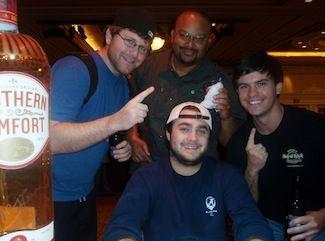 Eric Fields, winner of Harrah's New Orleans Event #8 $365 NLHE. Photo courtesy of the WSOP.