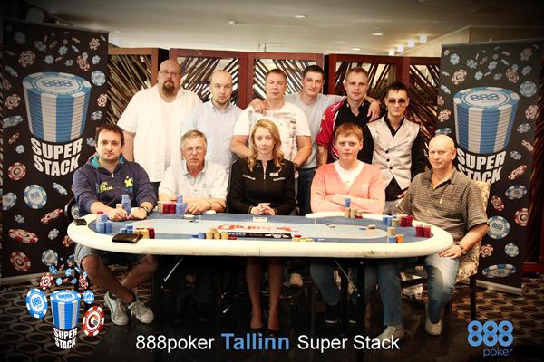 888 Super Stack Tallinn 2013 finaallaud