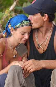 Rob and his future wife Amber on Survivor All-Stars (Photo c/o images4.fanpop.com)