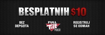 Uzmite Besplatnih  na Full Tilt Pokeru do 30. Maja 101