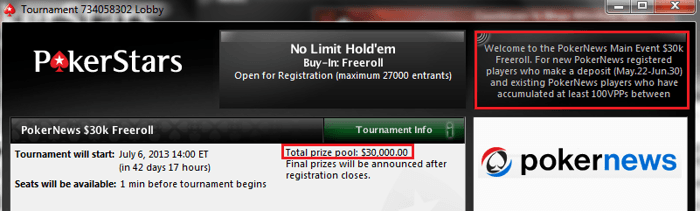 New PokerNews Exclusive ,000 Freeroll at PokerStars 101