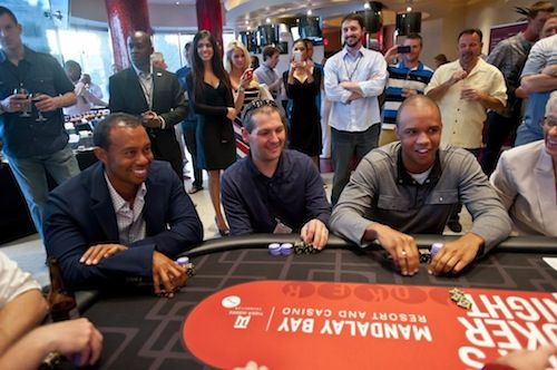 Tiger Woods and Phil Ivey at the same table.