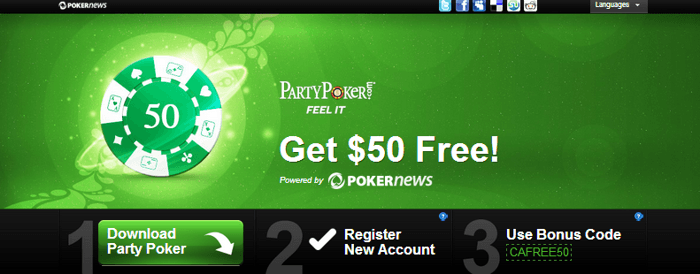 Free  Cash Promotion at Party Poker, No Deposit Required! 101