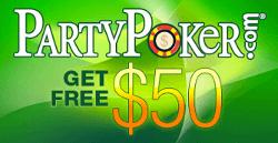PartyPoker: Spill om  000 ved freerolls hver måned 104