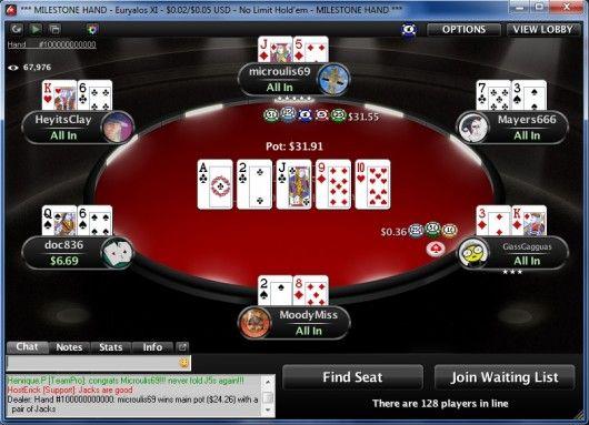 """Ο """"microulis69"""" νικητής της παρτίδας 100 δις στο PokerStars... 102"""