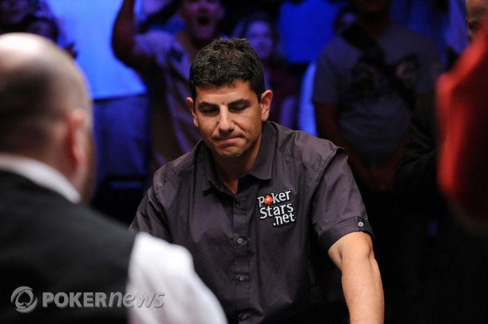 Steven bubbles the 2010 WSOP Main Event final table