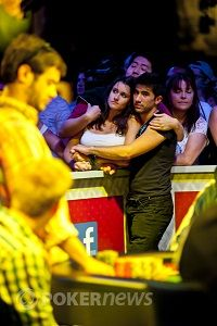 Bleeth and Sylvia at the 2012 WSOP Main Event final table