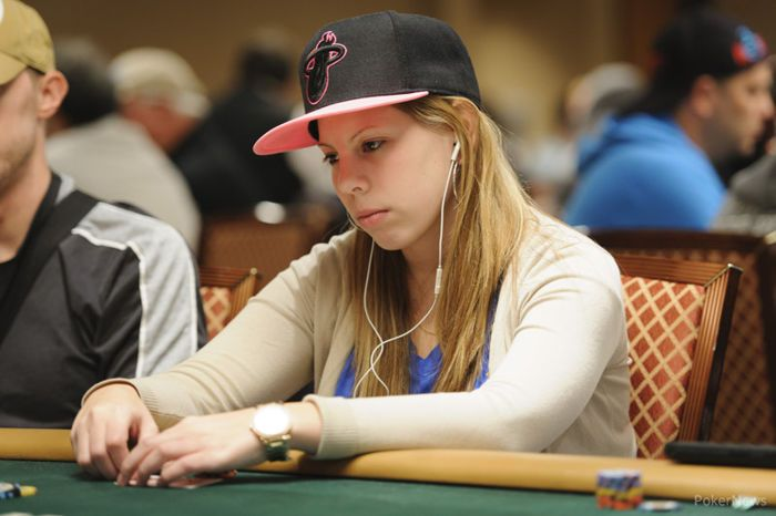 Harwood during the 2013 WSOP Main Event