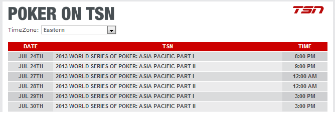 WSOP on TSN: Negreanu Highlights 2013 APAC Broadcast 102