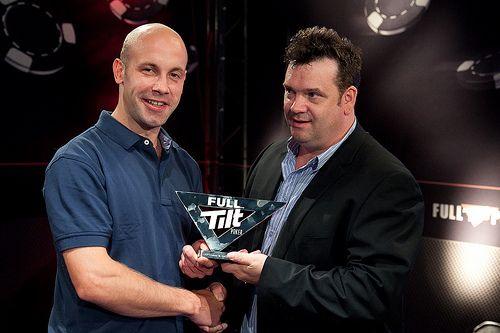 Winner of the Irish Poker Championship Trevor Dinneen (left).