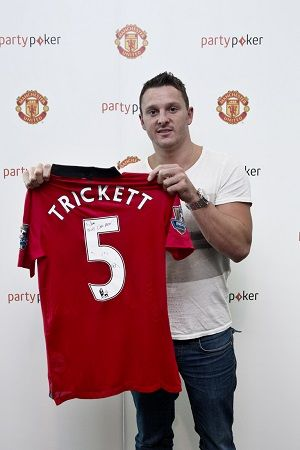 Trickett's personalized Manchester United jersey