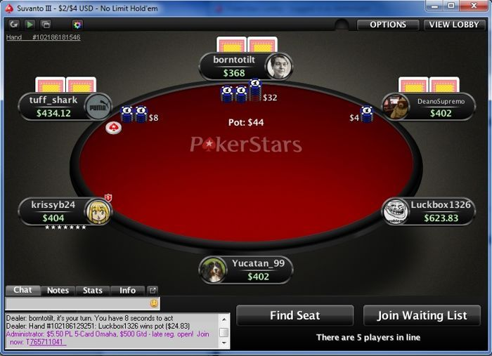 "Bicknell playing at PokerStars as ""krissyb24"""