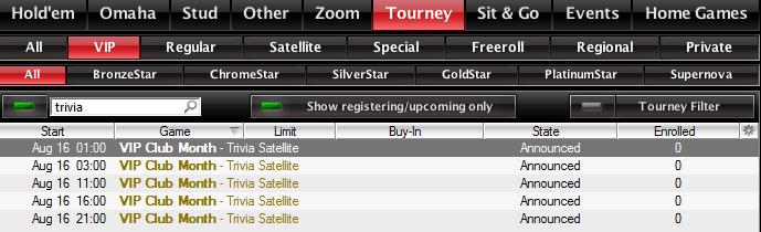 PokerStars VIP klubi kuu:  000 000 loos 101