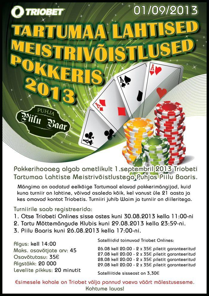 Tartumaa pokkerimeister selgub Puhjas 101